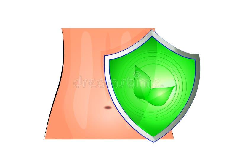 Proteção do intestino ilustração stock