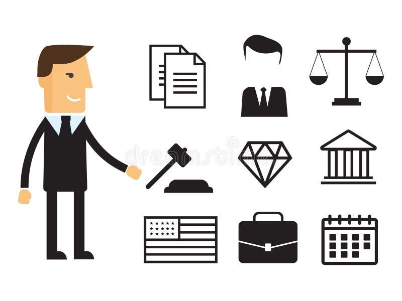 Proteção do negócio da conformidade e regulamento legais dos direitos reservados ilustração stock