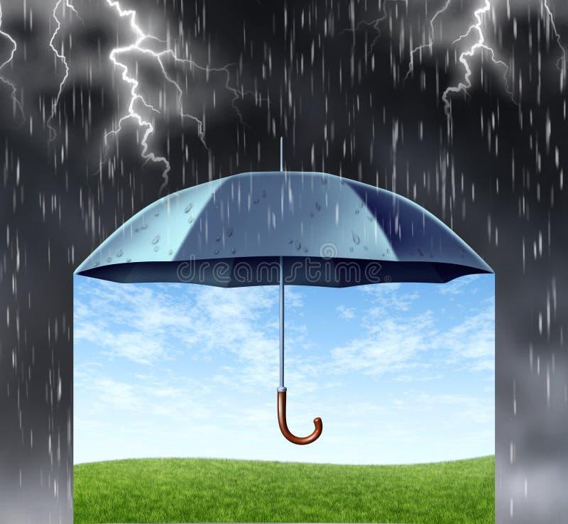 Proteção do seguro ilustração do vetor