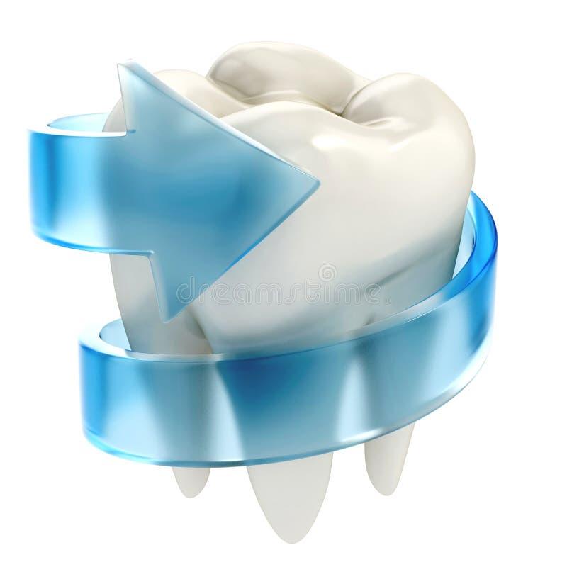 Proteção dos dentes ilustração royalty free