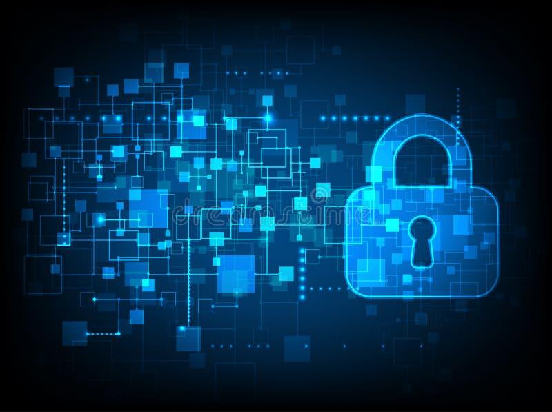 Proteção e segurança de Digitas ilustração do vetor