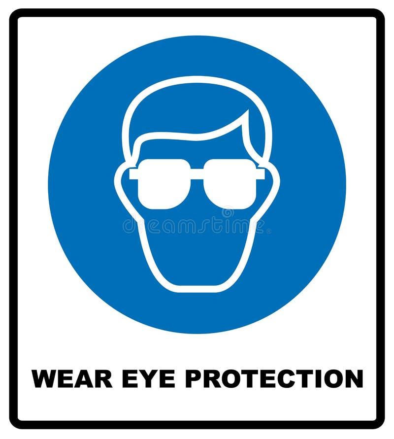 Proteção ocular do desgaste ilustração stock