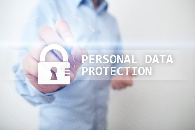 Prote??o de dados, seguran?a do Cyber e privacidade pessoais da informa??o GDPR fotografia de stock royalty free