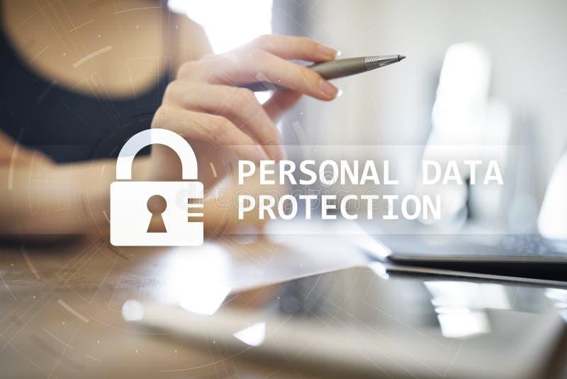 Prote??o de dados, seguran?a do Cyber e privacidade pessoais da informa??o GDPR imagens de stock