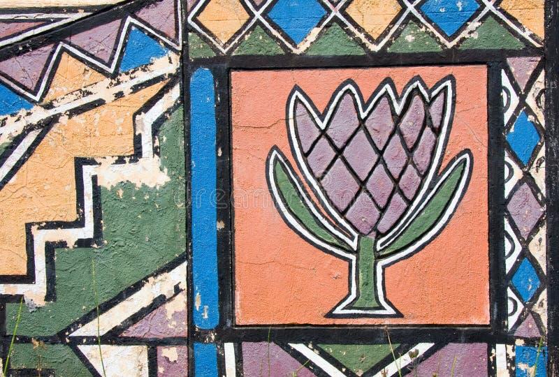 Protea de Ndebele fotos de archivo libres de regalías