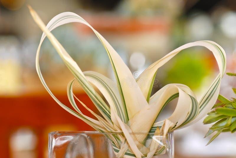 Protea liście jako dekoracje obraz stock