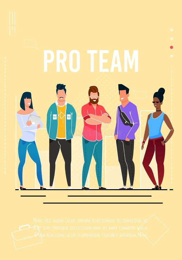 Proteam advertising poster met Editable-Tekst royalty-vrije illustratie