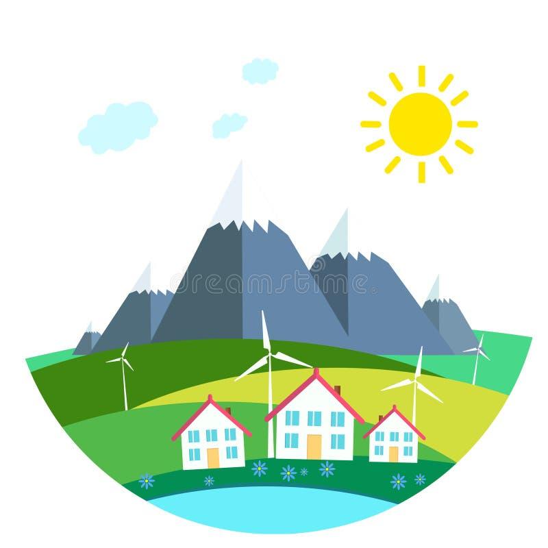 Protecção ambiental ilustração stock