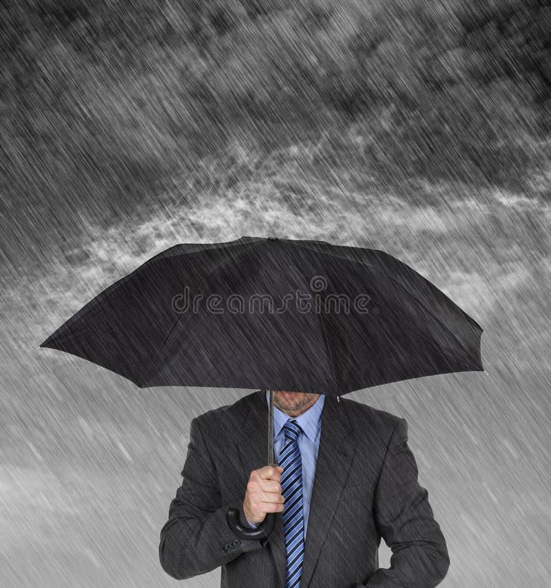 Protecção do homem de negócios imagens de stock royalty free