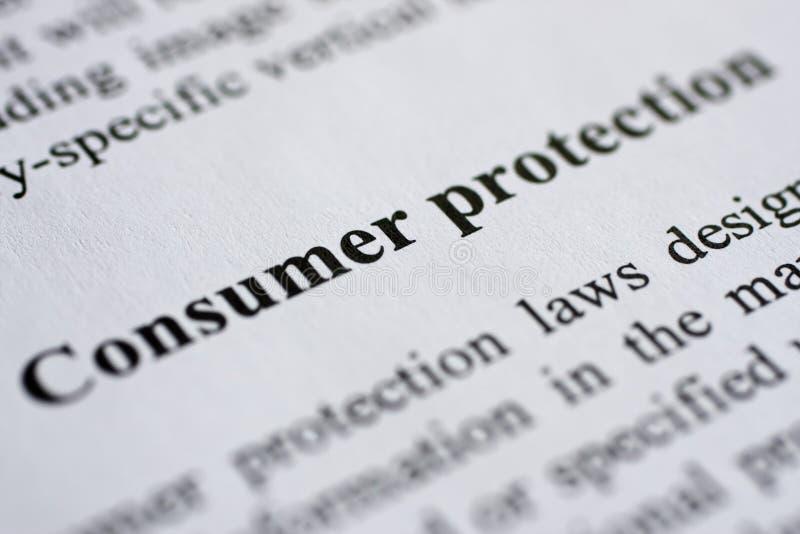 Protección al consumidor foto de archivo libre de regalías