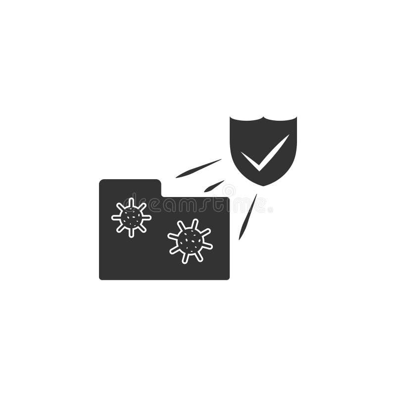 Protección contra icono cibernético del ataque Elemento del icono de la seguridad de Internet para los apps móviles del concepto  stock de ilustración
