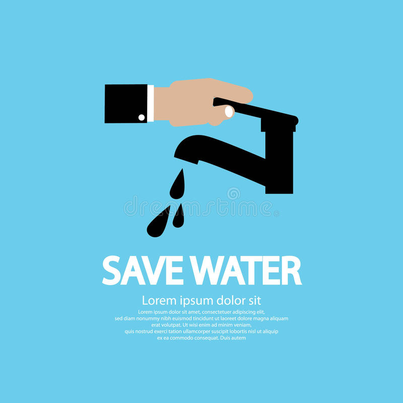 Protección de agua. ilustración del vector