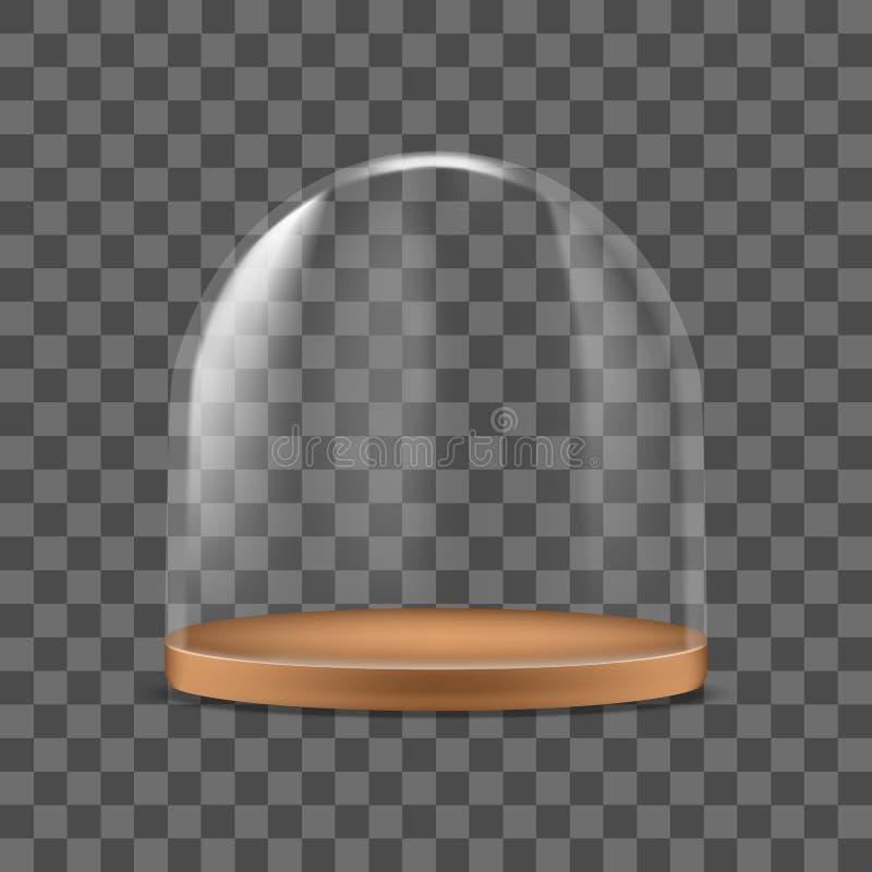 Protección de cristal detallada realista del envase de la bóveda 3d para la comida Vector libre illustration