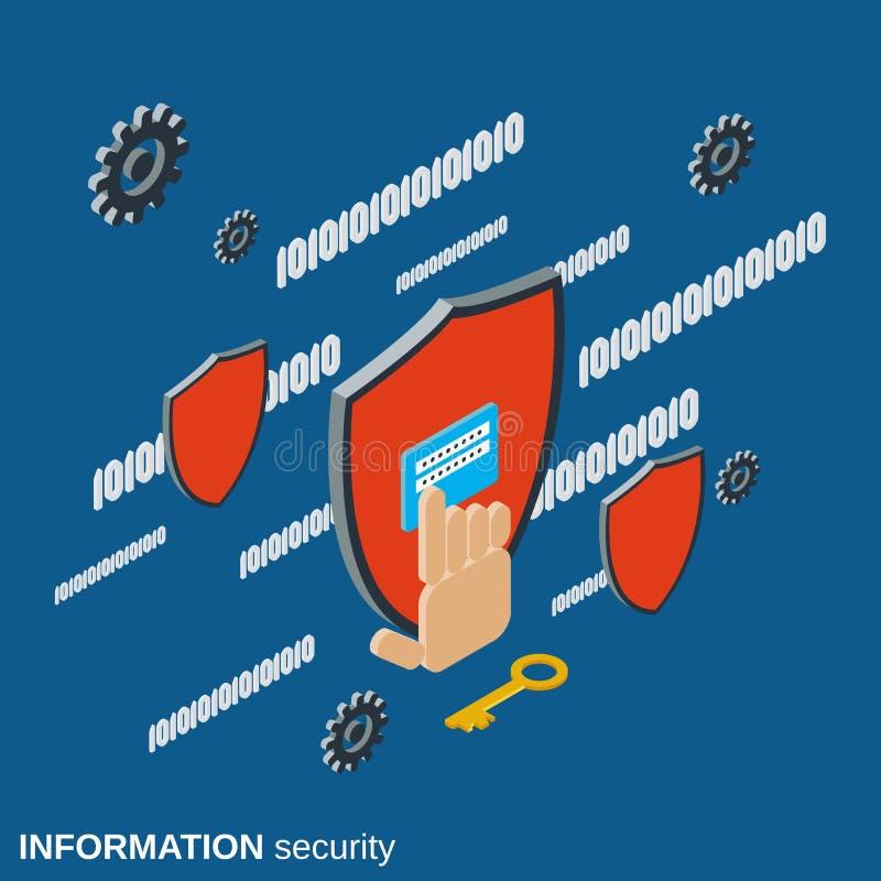 Protección de datos, concepto del vector de la seguridad de información libre illustration
