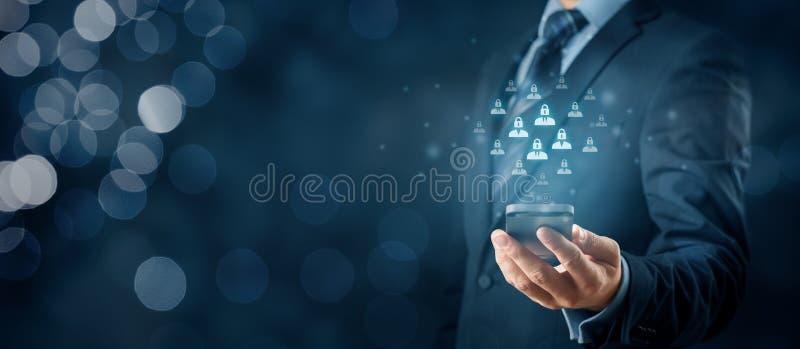 Protección de datos personal y GDPR imagen de archivo
