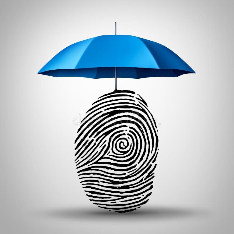 Protección de la identificación ilustración del vector