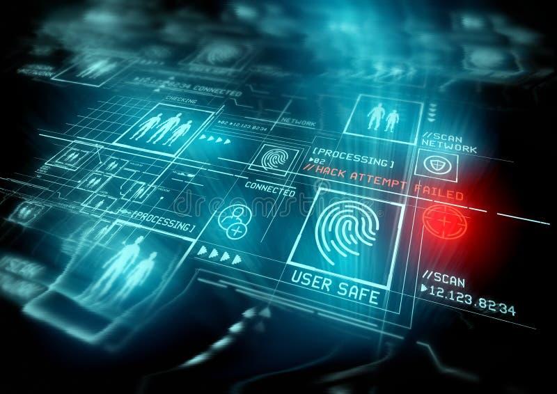 Protección de la identificación de la seguridad de Digitaces foto de archivo