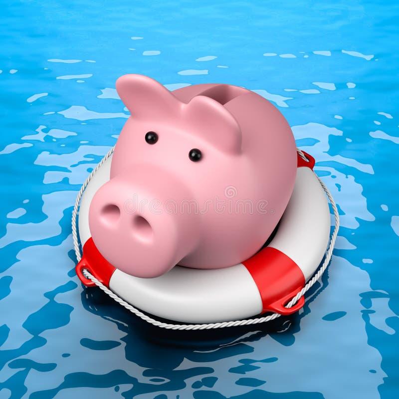 Protección de los ahorros stock de ilustración
