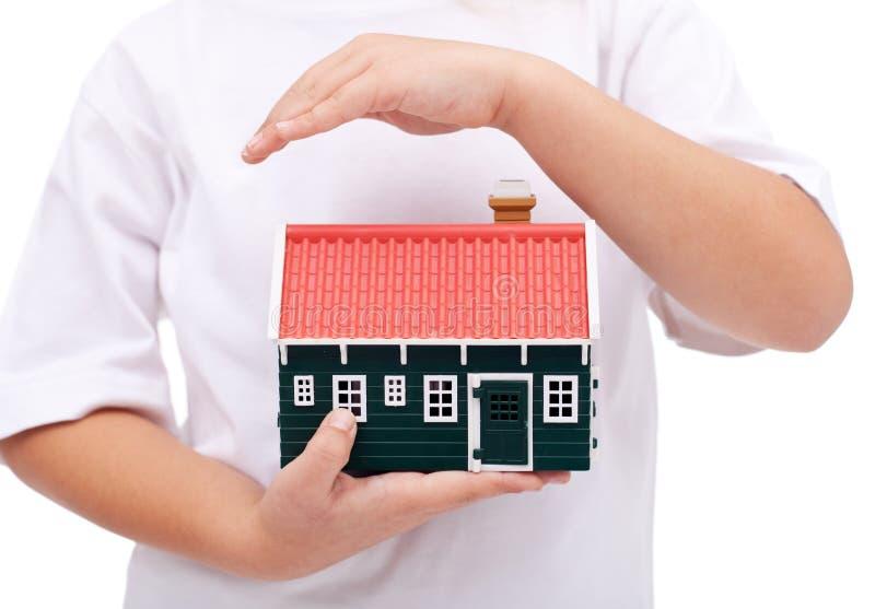 Protección de mi hogar foto de archivo libre de regalías