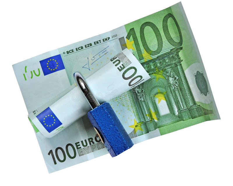 Protección del dinero, asunto seguro imagen de archivo
