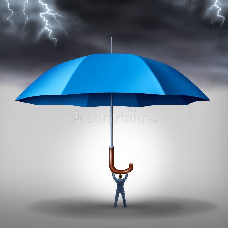 Protección del negocio stock de ilustración