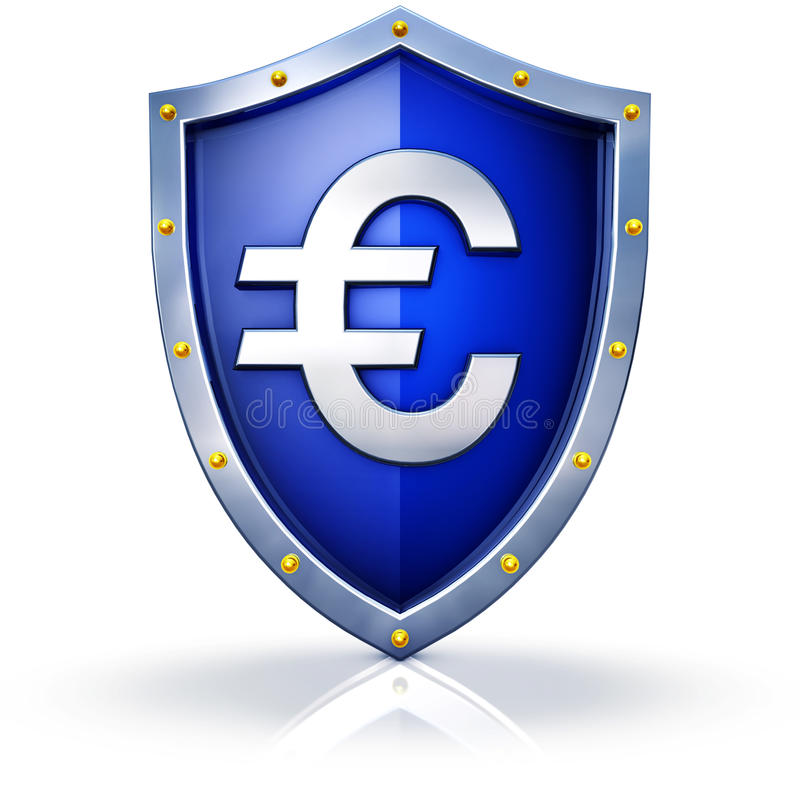 Protección Euro Fotos de archivo libres de regalías