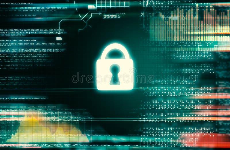 Protecci?n cibern?tica de la seguridad y de la informaci?n o de la red foto de archivo