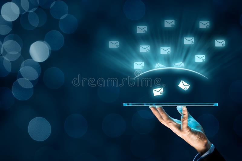 Protect against spam. Protect your e-mail against spam junk mail concept royalty free stock photography