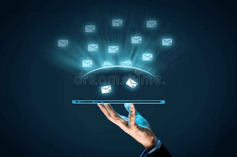 Protect against spam. Protect your e-mail against spam junk mail concept stock photography