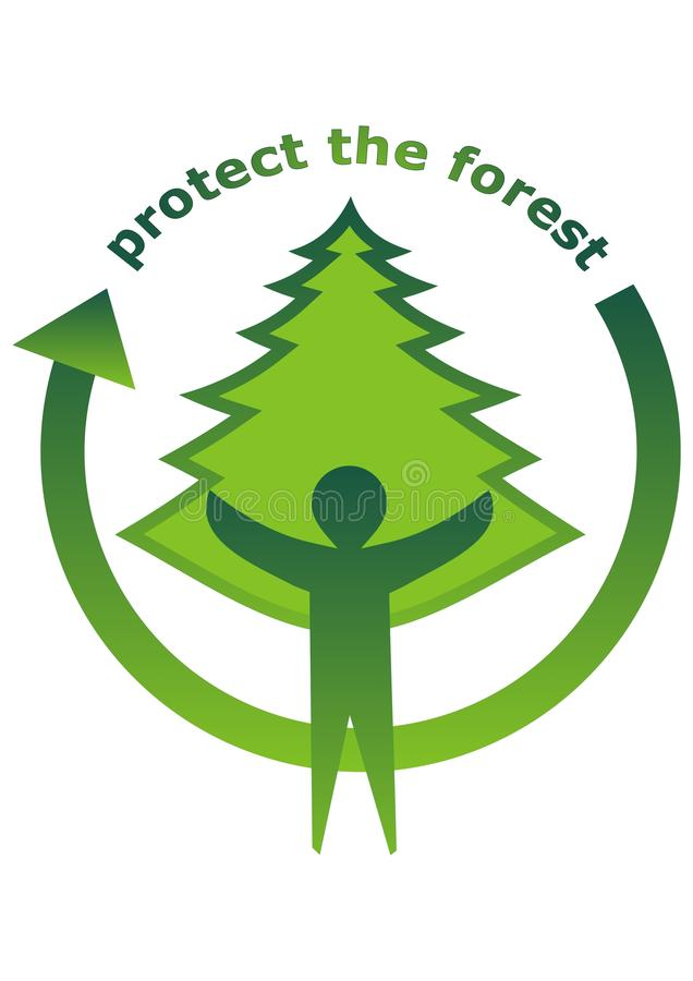 Download Protect the forest icon stock vector. Image of health - 14608422
