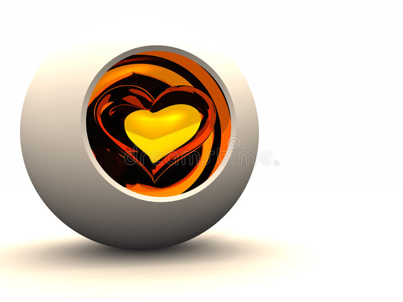 Download Protect the Heart stock illustration. Image of glowing - 10219975