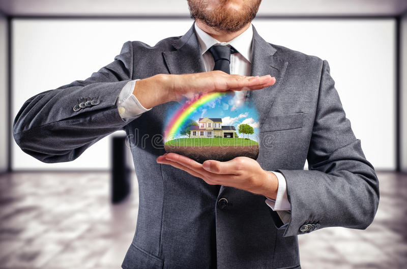 Protect house royalty free stock image