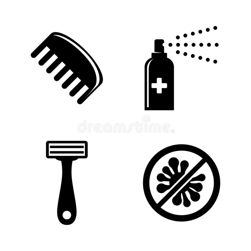 Free Protect, Hygiene, Cleanliness. Simple Related Vector Icons Stock Photography - 132637882