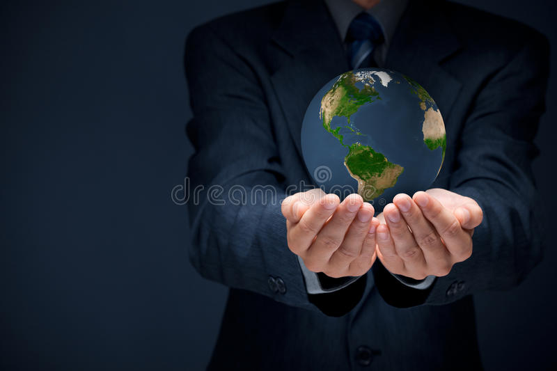 Protect planet Earth royalty free stock image