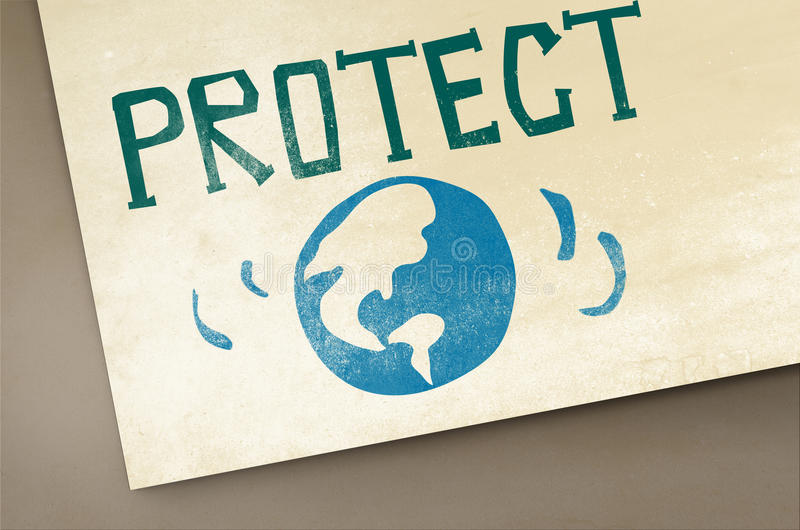 Protect Save Earth Nature Planet Concept stock illustration