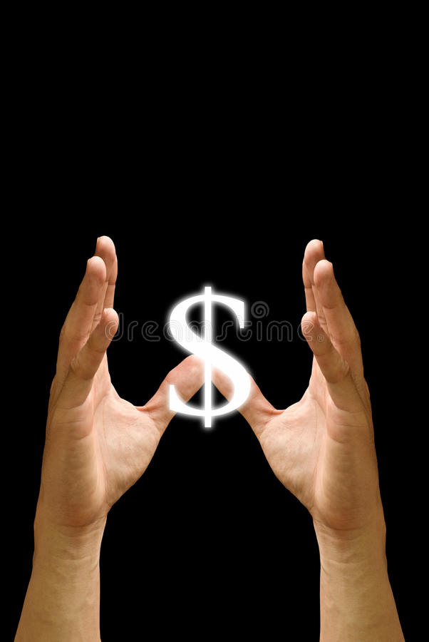 Protect the Value for money. Hand protect the value for currency of dollar, Money concept stock images