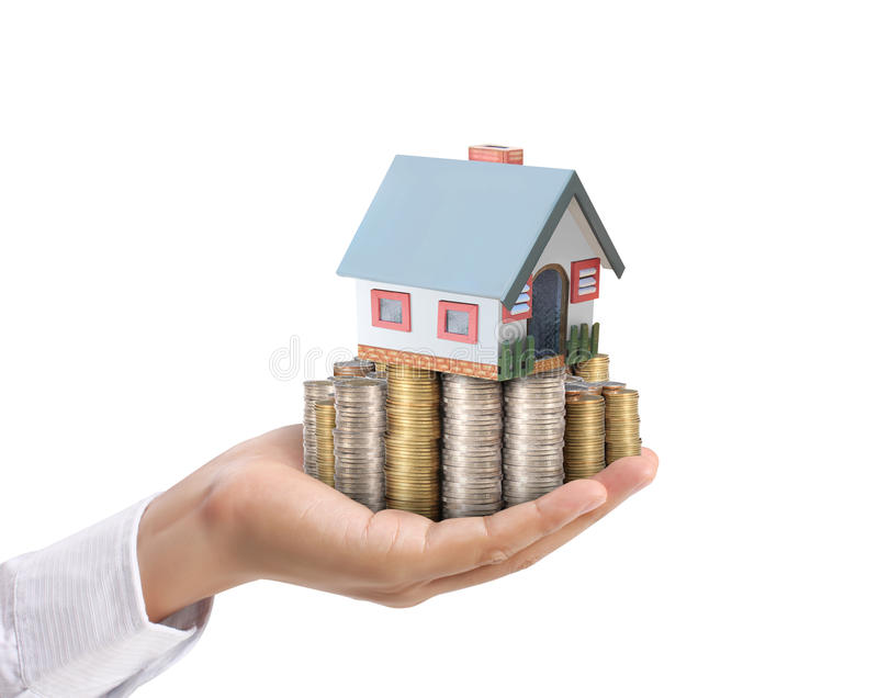 Protect Your House In Hand Royalty Free Stock Image