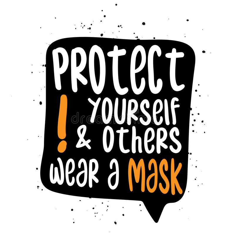 Free Protect Yourself And Others, Wear A Mask! Stock Photos - 176169253