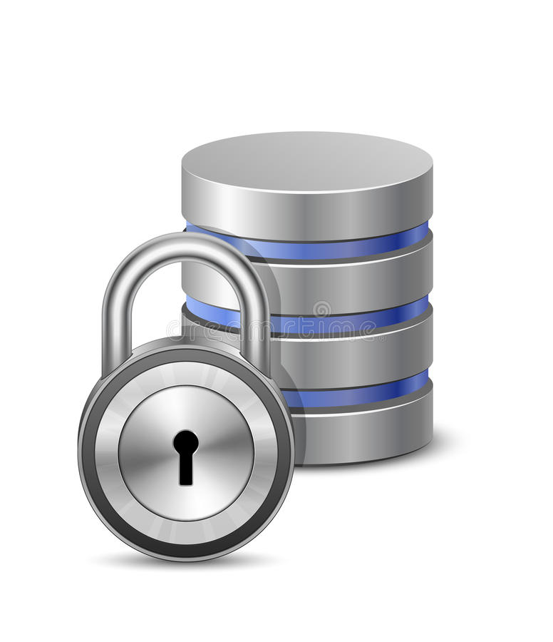 Download Protected database stock vector. Image of base, data - 24987196
