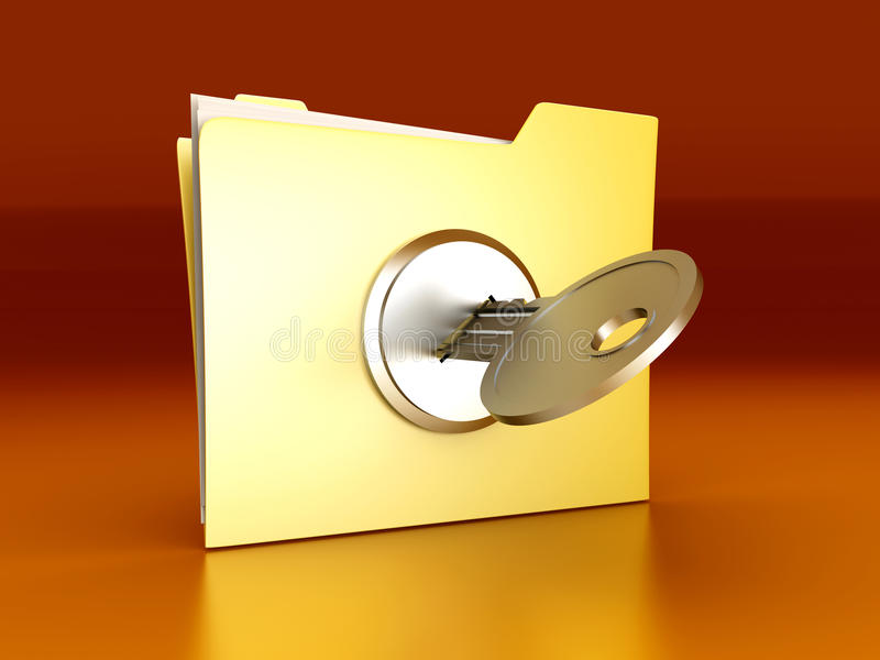 Download Protected folder stock illustration. Image of illustration - 18370638