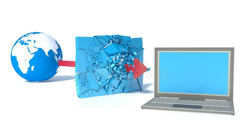Download Protected Global Network The Internet Stock Illustration - Image: 38252949