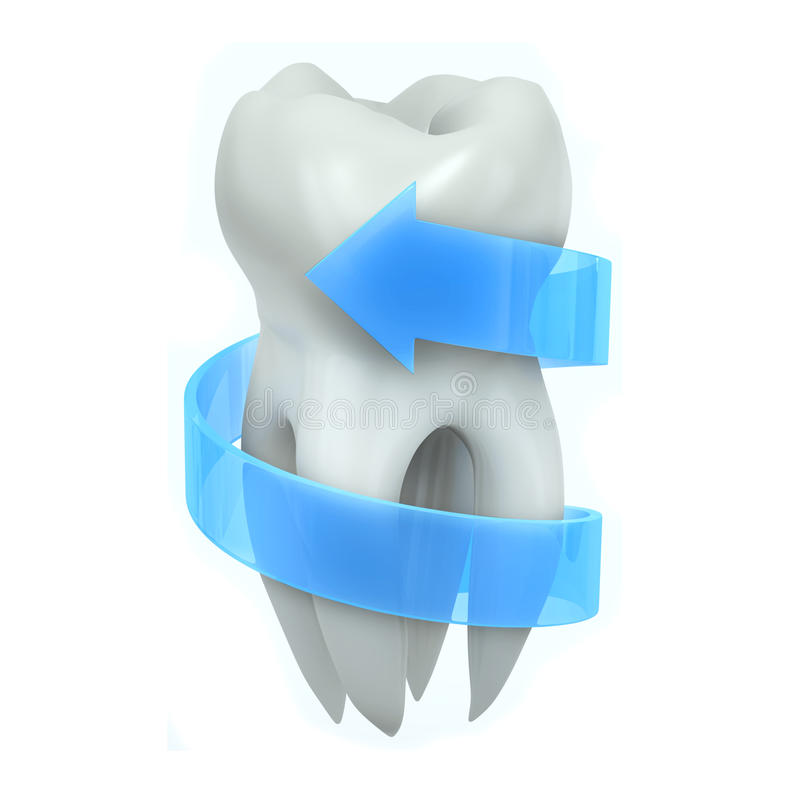 Protected tooth stock illustration