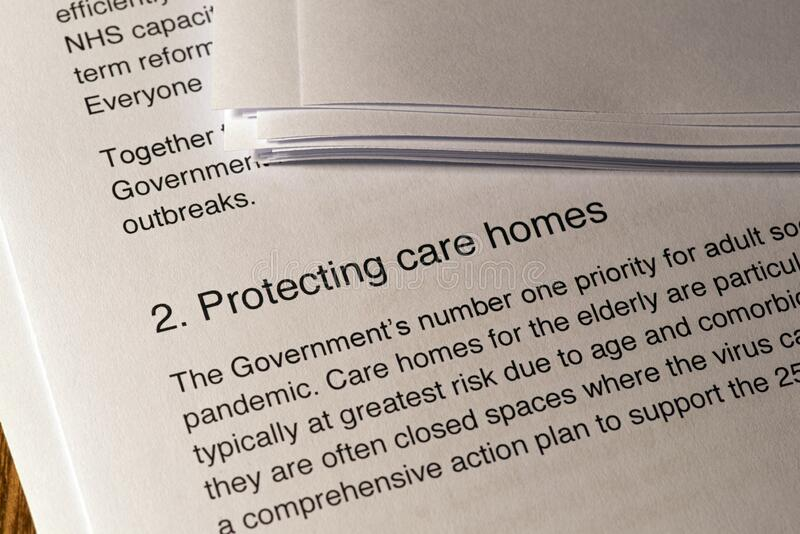 Protecting Care Homes from the Coronavirus royalty free stock photography