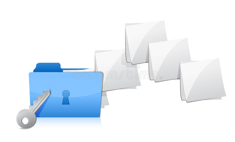 Download Protecting the Data stock illustration. Image of data - 29250057