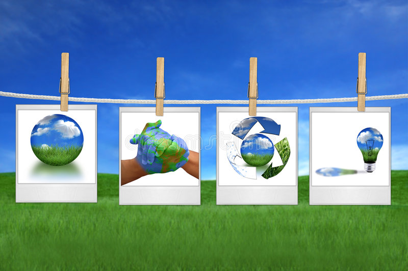 Protecting The Environment Together is Possible royalty free stock photos