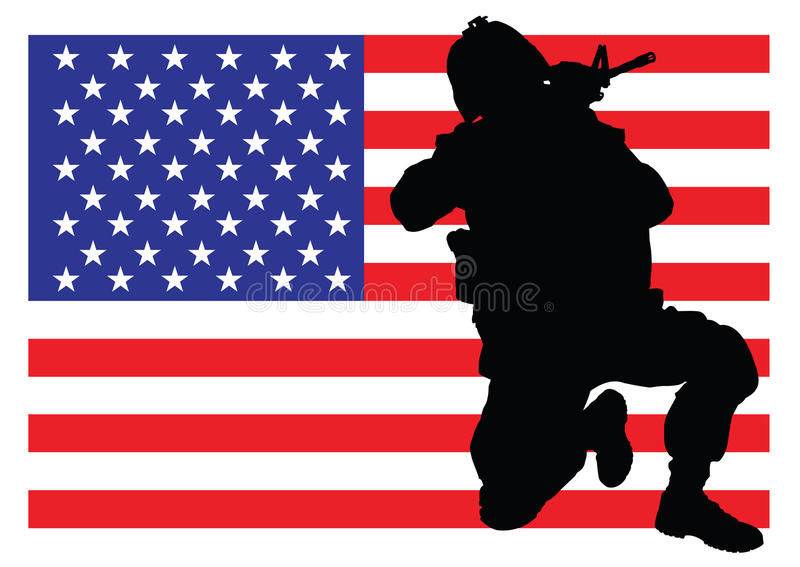 Protecting the flag vector illustration