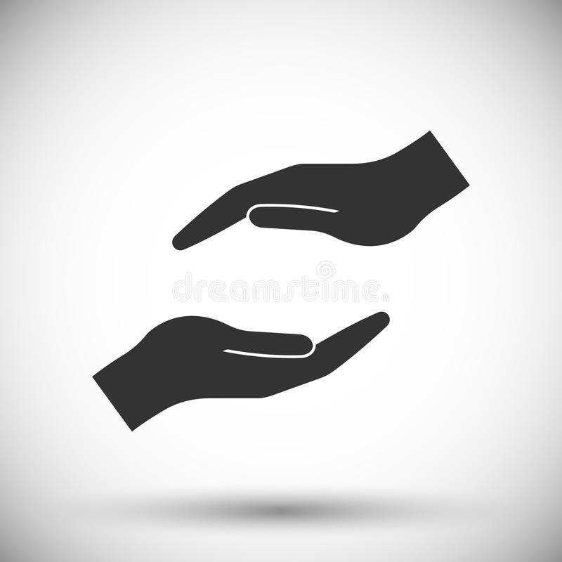 Protecting hands icon vector illustration