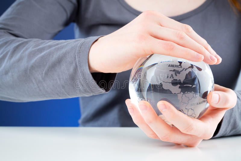 Download Protecting The World - Hands Holding A Globe Stock Image - Image: 29589487
