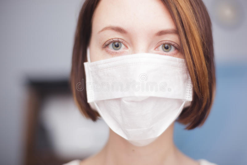 Protection against viruses and bacteria during the flu epidemic stock photo