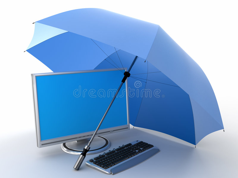 Protection of computer royalty free stock image